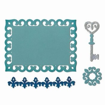 Dies Sizzix Border, Label, Medallion & Key