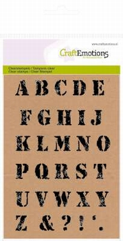 Clear stamps alphabet vintage