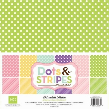 Echo Park Dots & Stripes Spring 30x30cm Collection Kit