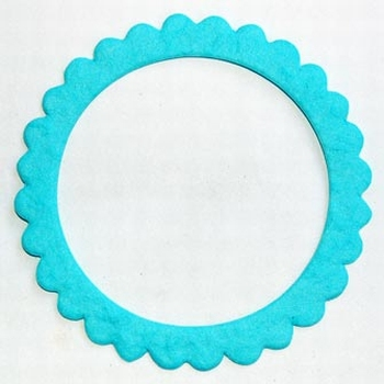 4 cadres ronds couleur turquoise