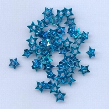 50 Eyelets ster turquoise