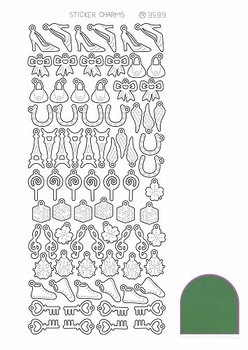Stickers Charm Lucky couleur vert