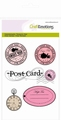 Tampon clear stamps en label High Tea Rose