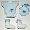 Mini-set baby blauw tinten