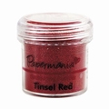 Embossing poeder tinsel rood