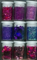 9 potjes Glitter Set purple