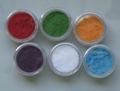 6 potjes fluweel poeder (flocking powder)  set B
