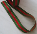 Kerstmis tricolorlint grosgrain breedte 24 mm